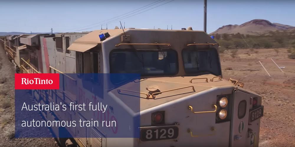 世界上第一列無人駕駛火車出現了!