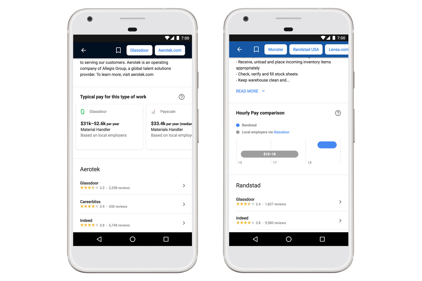 Google增加了工資搜索工具