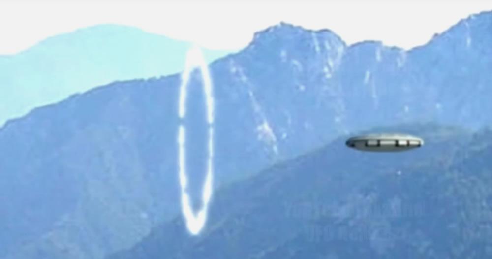 男子山間拍到UFO穿越「時空門」?