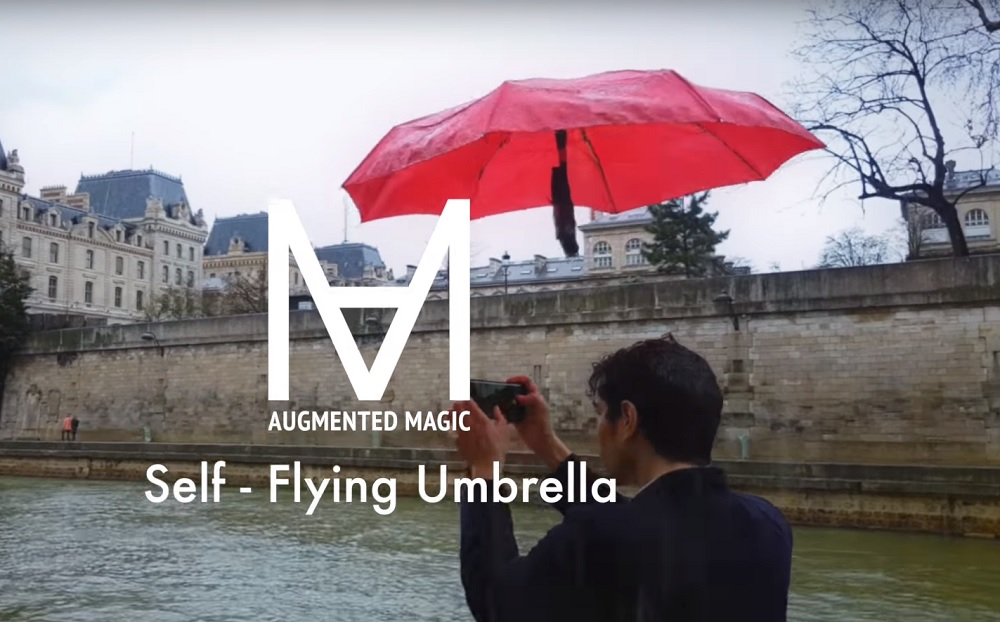 創新發明: 懸浮雨傘