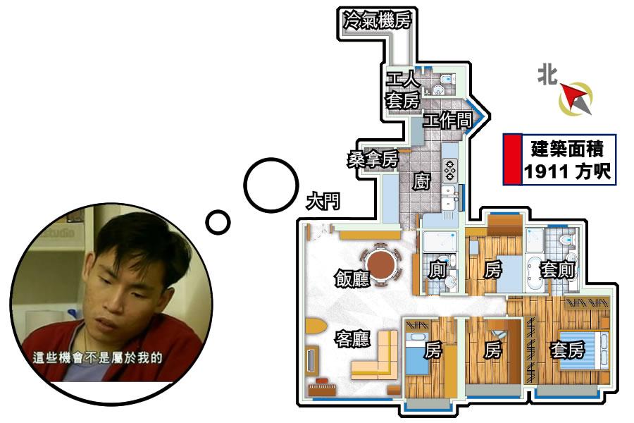 5房3衛2000尺大房子是怎樣的概念?