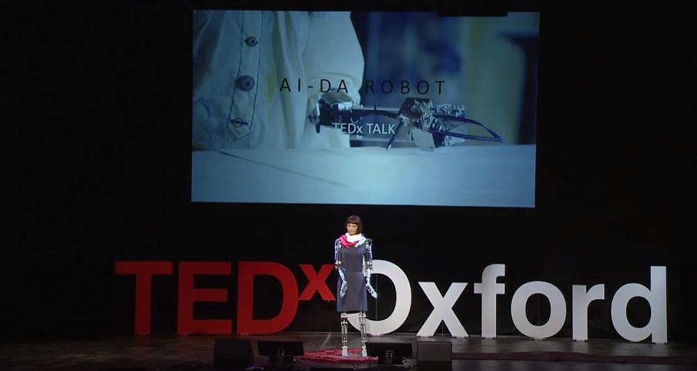 世界上第一位AI機器人藝術家