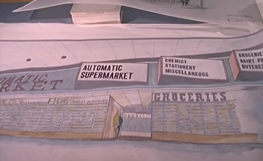 原來,在1964年時已經有無人超市這個概念